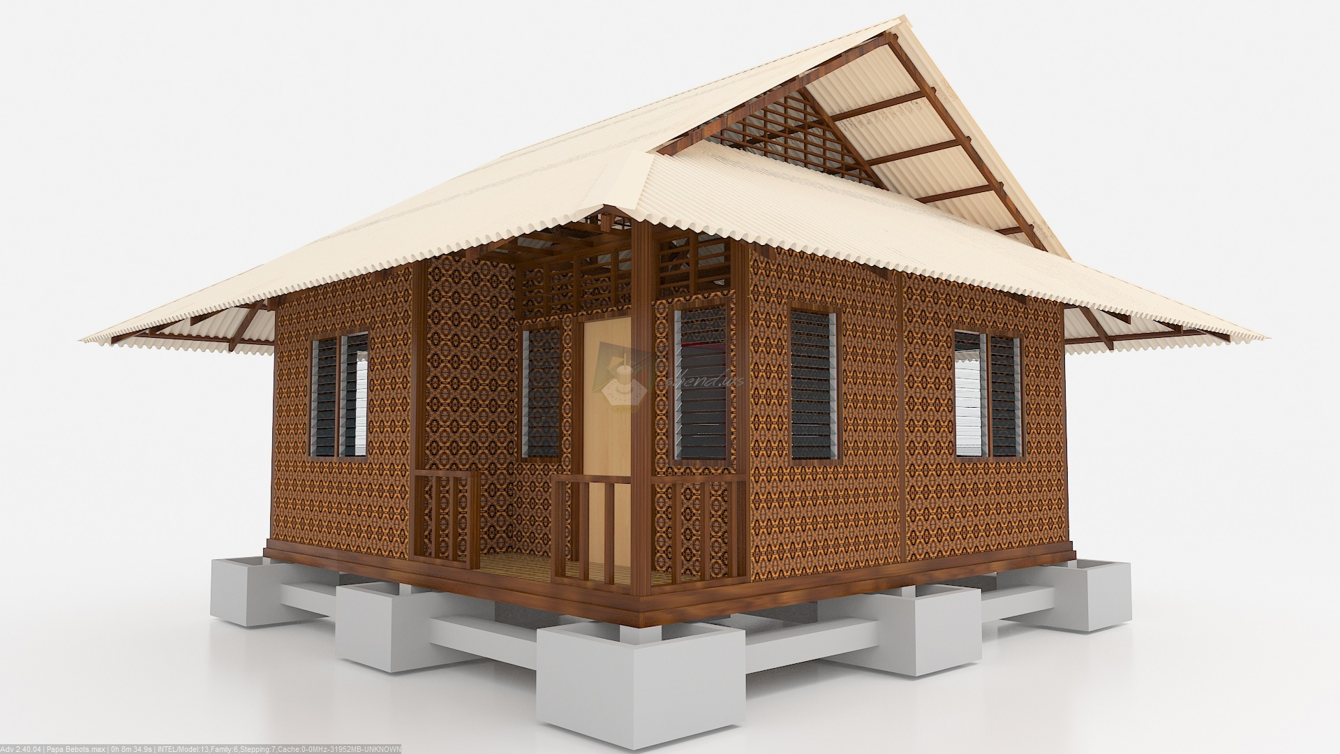 Architecture mix 3d shends shend catz native amakan house design